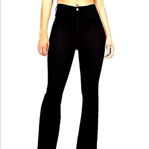 Women's 70s Flare Bell Bottom Black Jeans